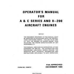 Continental A & C and O-200 Aircraft Engine Operator's Manual 1980