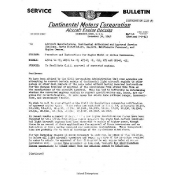 Continental A50-4 to C75 & C85-8 -12 Procedure & Instructions for Engine Model or Conversion $5.95