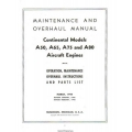 Continental A50, A65, A75 and A80 Aircraft Engines Maintenance and Overhaul Manual 1944 - 1948 $13.95