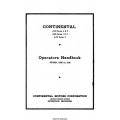 Continental A50, A65 and A75 Series Operators Handbook 1939 $6.95