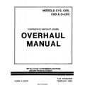 Continental C75, C85, C90 & O-200 Aircraft Engine Overhaul Manual 1980 $13.95