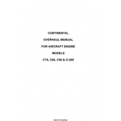Continental C75, C85, C90 & O-200 Overhaul Manual for Aircraft Engine 1984