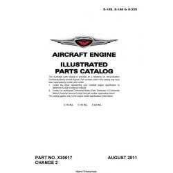Continental E-165, E-185, E-225 Aircraft Engine Parts Catalog 2010 - 2011 $19.95