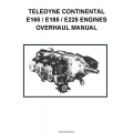 Continental E165, E185 and E225 Engines Overhaul Manual 1970 $13.95