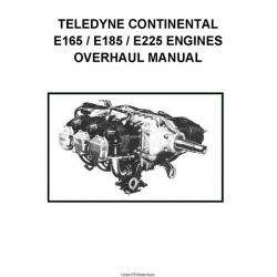 Continental E165, E185 and E225 Engines Overhaul Manual 1970