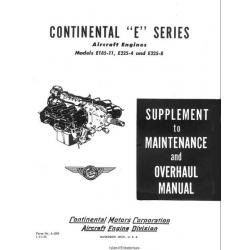 Continental E185-11, E225-4 and E225-8 Aircraft Engines Maintenance and Overhaul Manual 1955