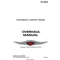 Continental IO-520 Series Engine X30039 Overhaul Manual 1977 - 2011 $19.95