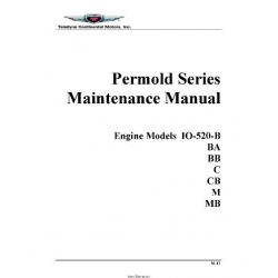 Continental IO-520-B, BA, BB, C, CB, M, MB Maintenance Manual Form M-11 August 2011 $19.95