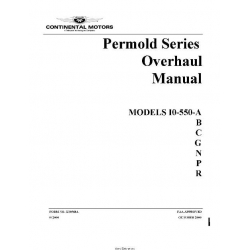 Continental IO-550-A, B, C, G, N, P, R, 2000 Overhaul Manual (part# X30568A) $19.95