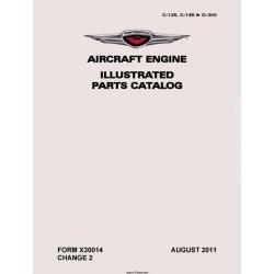 Continental Illustrated Parts Catalog C-125, C-145 & 0-300  X30014 $19.95
