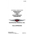 Continental  Operators Manual and Maintenace Handbook O-240 X30094 $19.95