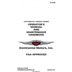 Continental  Operators Manual and Maintenace Handbook O-240 X30094