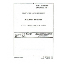 Continental 0-470-13, 0-470-13A, 0 -470-4 Illustrated Parts Breakdown $9.95