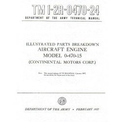Continental 0-470-15  Illustrated Parts Breakdown 1957 $12.95