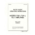 Corsair-1 F4U-1, F3A-1 & FG-1 Pilots Flight Operating Instructions $6.95