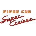Piper Cub Super Cruiser Decal,Sticker !
