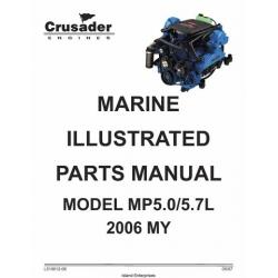 Crusader L510012-06 Marine Engines Model MP5.0/5.7L 2006 MY Parts Manual 2007 $9.95