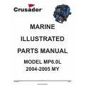 Crusader L510018 Marine Engines Model MP6.0L 2004-2005 MY Parts Manual 2007 $9.95