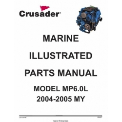 Crusader L510018 Marine Engines Model MP6.0L 2004-2005 MY Parts Manual 2007
