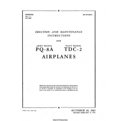 Culver PQ-8A and TDC-2 Airplanes Erection & Maintenance Instructions 1994