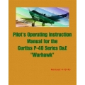Curtiss P-40 Series D & E Warhawk Pilot's Operating Instruction Manual $4.95
