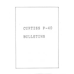 Curtiss P-40 Series E-1,K,M Service Bulletin & Airplanes Maintenance Parts $9.95