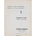 Curtiss Wright Travel Air Model 12 Sport Trainer Manual $4.95