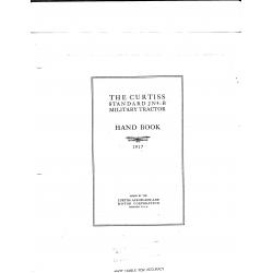 Curtiss JN4 B Handbook 1917 $2.95