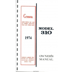 Cessna Model 310 Owner's Manual (1974) D1562-13 $19.95