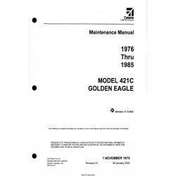Cessna Model 421C Golden Eagle (1976 thru 1985) Maintenance Manual D2515-23-13 $29.95