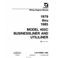 Cessna Model 402C Businessliner and Utililiner (1979 thru 1985) Wiring Diagram Manual D2533-3-13 $29.95