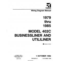 Cessna Model 402C Businessliner and Utililiner (1979 thru 1985) Wiring Diagram Manual D2533-3-13