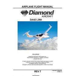 Diamond DA2L-AFM-002 (DA42 L360) Aircratf Flight Manual $19.95