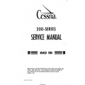 Cessna Model 200-Series (1966 thru 1968) Service Manual D606-13 $29.95