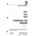Cessna Cardinal RG Series (1971 thru 1975) Service Manual D991-3-13 $19.95
