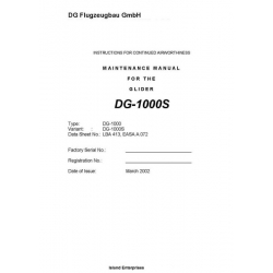 DG-1000S Glider Maintenance Manual 2002 - 2011