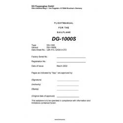 DG-1000S Sailplane Flight Manual/POH 2002