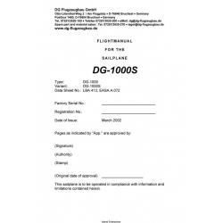 DG-1000S Flight Manual/POH for the Sailplane