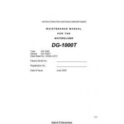 DG-1000T Motorglider Maintenance Manual 2005 - 2010