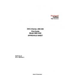 DHC-8 Series 200/300 Model 2800 HGS Pilot Manual 2001
