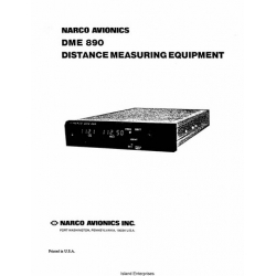 Narco DME 890 Distance Measuring Equipment Installation and Operation Manual $9.95