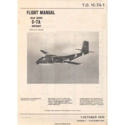 De Havilland C-7A USAF Series Aircraft Flight Manual/POH 1970 - 1974 $9.95
