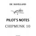 De Havilland Chipmunk Trainer T10 Pilot's Notes