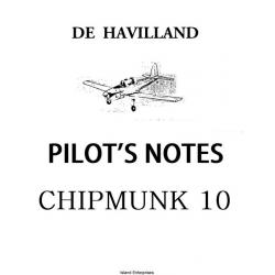 De Havilland Chipmunk Trainer T10 Pilot's Notes $4.95