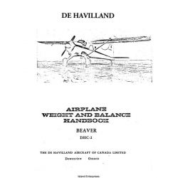 De Havilland DHC-2 Beaver Airplane Weight and Balance Handbook $9.95