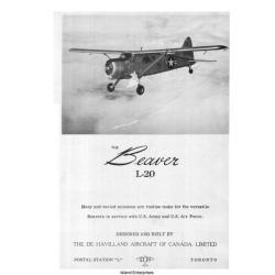 De Havilland DHC-2 Beaver L20 Flight Manual/POH $4.95