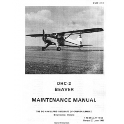 De Havilland DHC-2 Beaver Maintenance Manual 1959 - 1980 $13.95