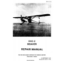 De Havilland DHC-2 Beaver Repair Manual 1957 - 1958 $13.95