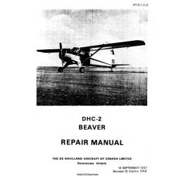 De Havilland DHC-2 Beaver Repair Manual 1957 - 1958 $13.95