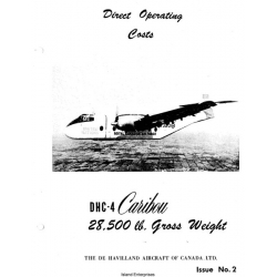 De Havilland DHC-4 Caribou Direct Operating Costs 1960 $4.95
